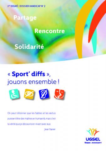 « Sport'diffs », jouons ensemble !